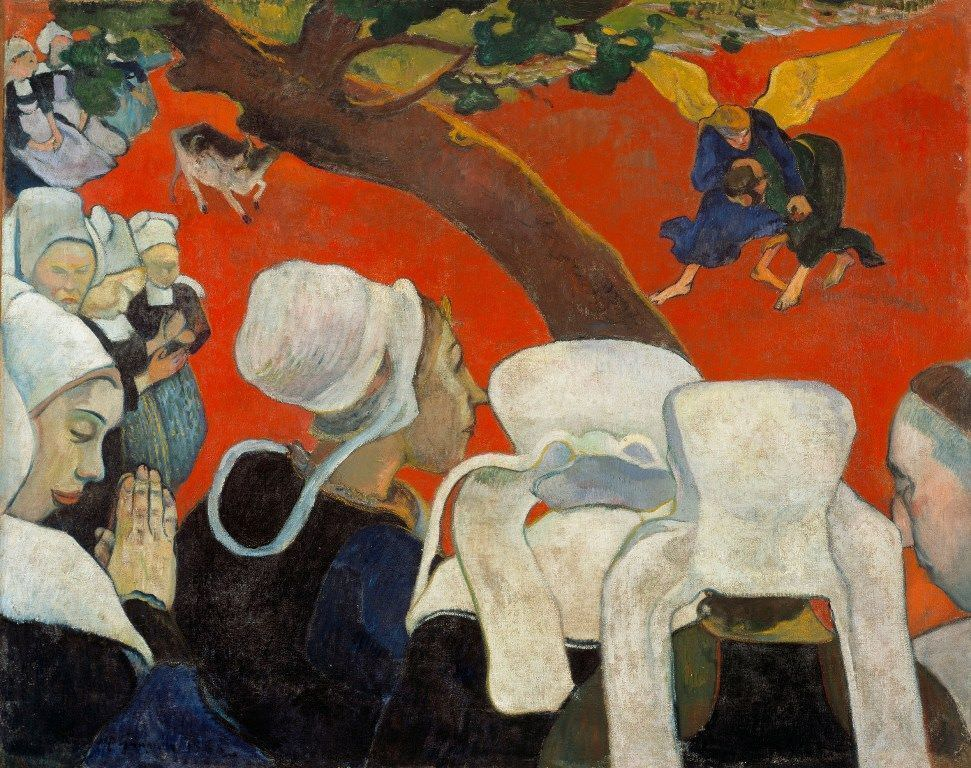 Paul Gauguin, The Vision of the Sermon (Jacob wrestling with the angel), 1888 (Scottish National Gallery, Edinburgh)