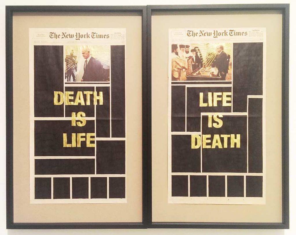 Panos Tsagaris, Death is life – Life is death, 2011, Ausstellungsansicht MUSA 2016, Foto: Alexandra Matzner.