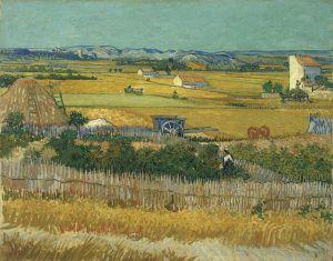 Vincent van Gogh, Die Ernte, 1888, Öl auf Leinwand © Van Gogh Museum, Amsterdam (Vincent van Gogh Foundation).