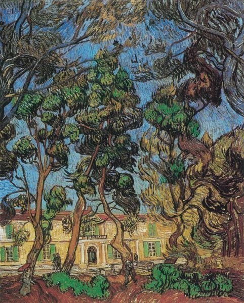 Vincent van Gogh, Heilanstalt in Saint-Rémy, 1889, Öl auf Leinwand © The Armand Hammer Collection. Gift of the Armand Hammer Foundation. Hammer Museum, Los Angeles, California.