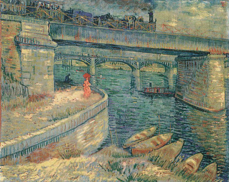 Vincent van Gogh, Die Seine-Brücken bei Asnières, 1887, Öl auf Leinwand © Stiftung Sammlung E. G. Bührle, Zürich.
