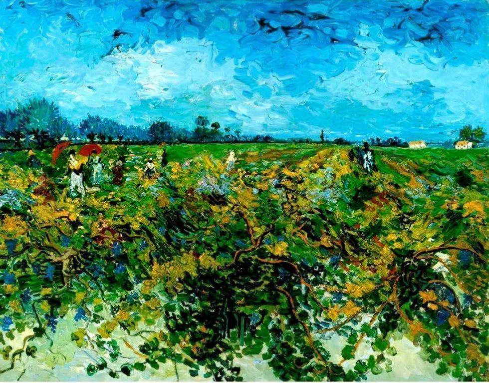 Vincent van Gogh, Der grüne Weinberg, ca. 3. Oktober 1888, Öl auf Leinwand, 72 x 92 cm (Kröller-Müller Museum, Oterloo)