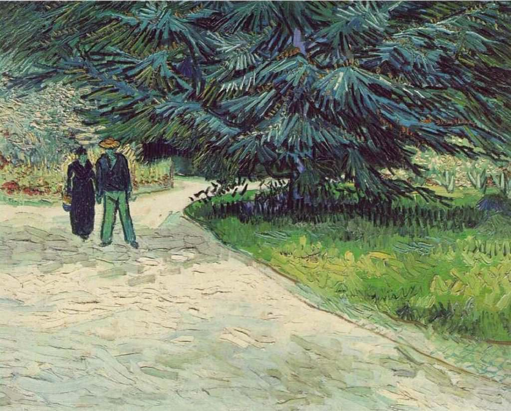 Vincent van Gogh, Le Jardin du poète [Der Dichtergarten], Mitte September, Öl auf Leinwand, 73 x 92,1 cm (The Art Institute of Chicago, Mr. and Mrs. Coburn Memorial Collection, 1933-433)