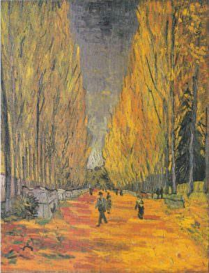 Vincent van Gogh, Les Alyscamps, ca. 1. November 1888, Öl auf Jute, 72,5 x 91,5 cm (Seiji Togo Memorial Yasuda Kasai Museum of Art, Tokio)
