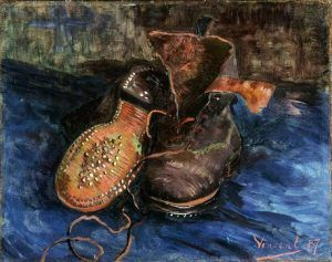 Vincent van Gogh, Ein Paar Schuhe, Sommer 1887, Öl auf Leinwand, 33 x 40,9 cm (The Baltimore Museum of Art, Cone Collection, formed by Dr. Claribel Cone and Miss Etta Cone, Baltimore, Maryland)
