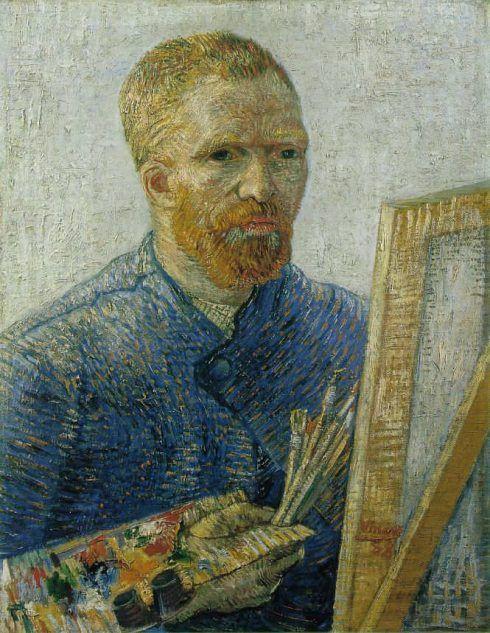 Vincent van Gogh, Selbstporträt an der Staffelei, Februar 1888, Öl auf Leinwand, 65 x 50,5 cm (Van Gogh Museum, Amsterdam (Vincent van Gogh Stiftung))