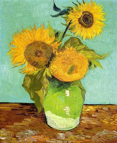 Vincent van Gogh, Sonnenblumen, 21./26. August 1888, Öl auf Leinwand, 72 x 58 cm (Privatsammlung)