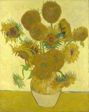 Vincent van Gogh, Sonnenblumen, Ende August 1888, Öl auf Leinwand, 93 x 73 cm (National Gallery, London)