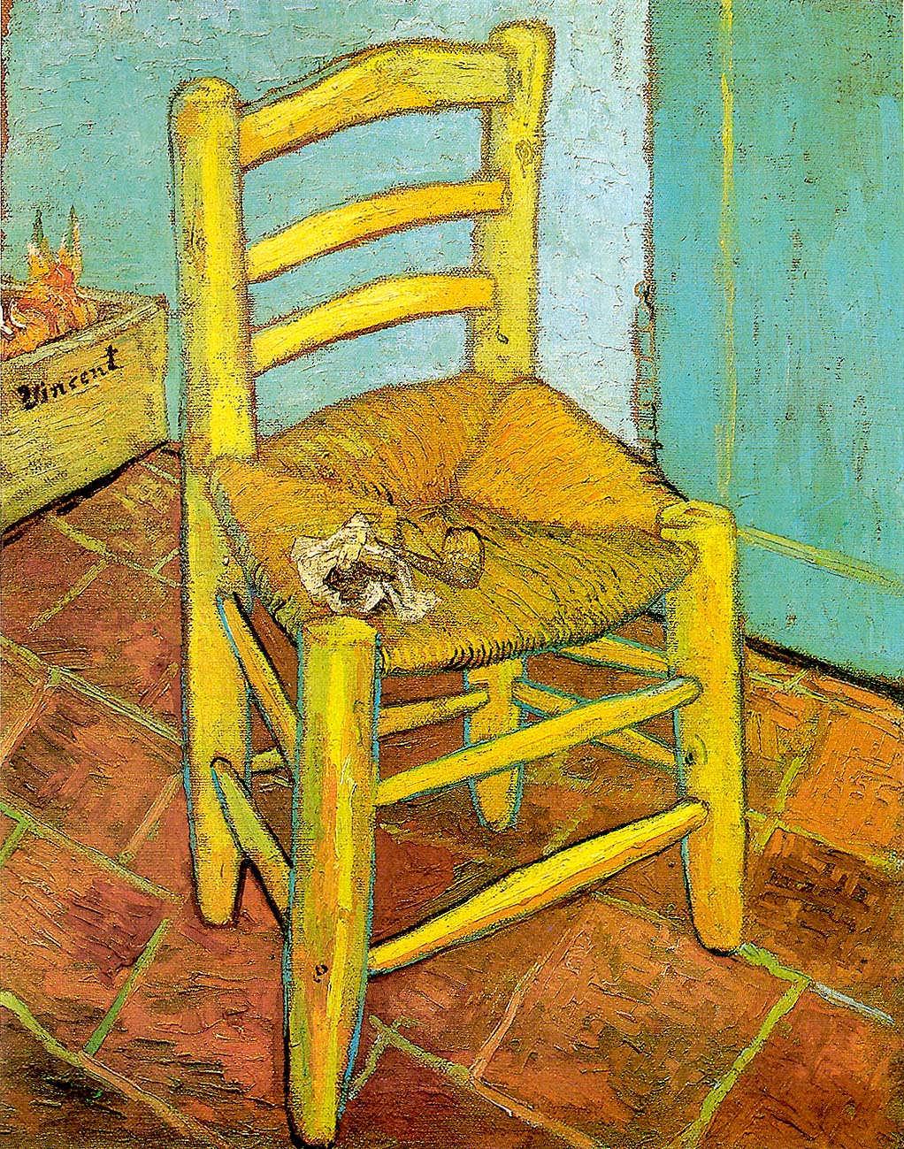 Vincent van Gogh, Van Goghs Stuhl, ca. 20. November 1888, Öl auf Jute, 93 x 73,5 cm (The National Gallery, London)