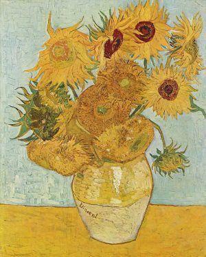Vincent van Gogh, Sonnenblumen, Ende August 1888, Öl auf Leinwand, 91 x 71 cm (Neue Pinakothek, München)