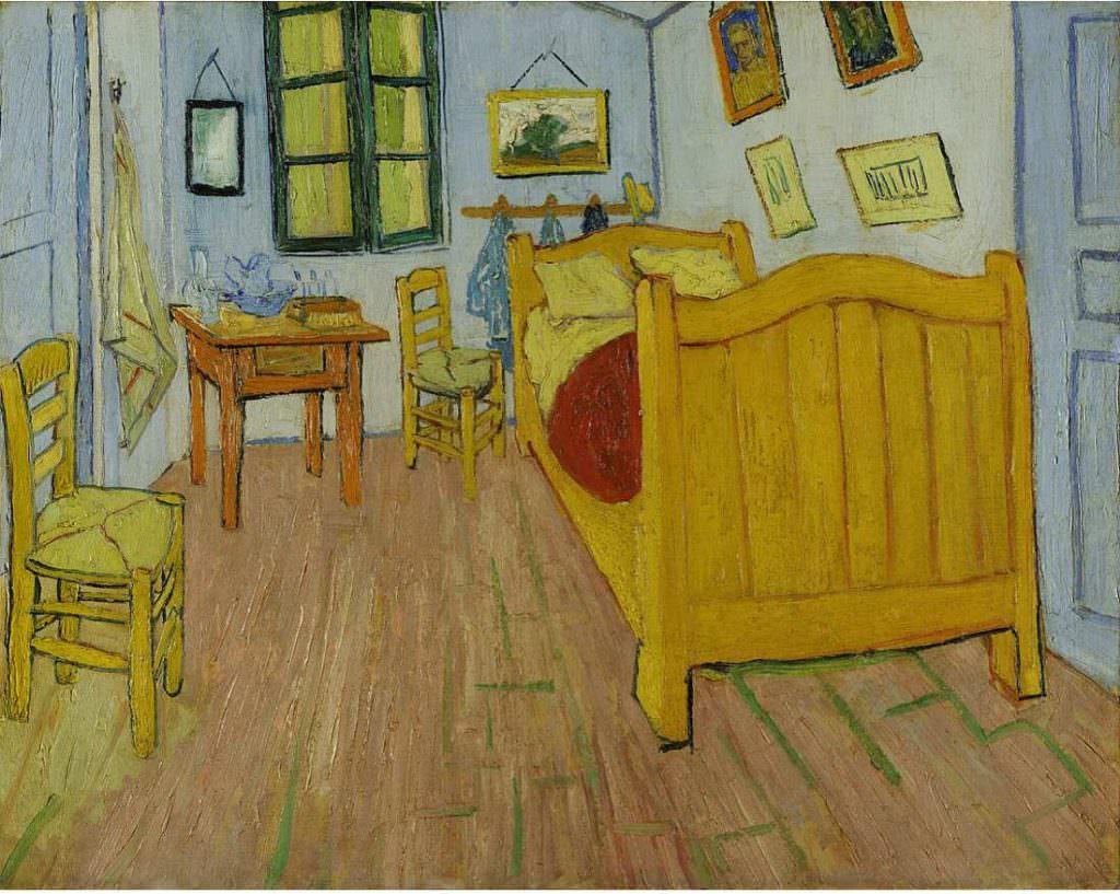 Vincent van Gogh, Das Schlafzimmer, Mitte Oktober 1888, Öl auf Leinwand, 72 x 90 cm (Van Gogh Museum, Amsterdam (Vincent van Gogh Stiftung))