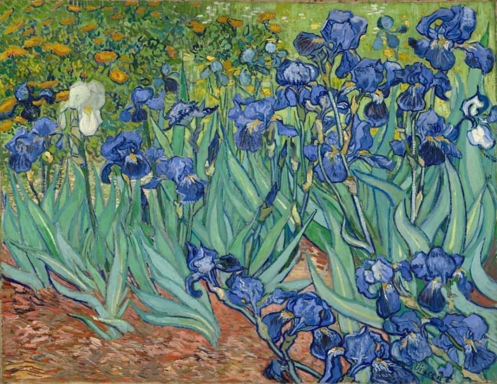 Vincent van Gogh, Schwertlilien, 10.–15. Mai 1889, Öl auf Leinwand, 71 x 93 cm (J. Paul Getty Museum, Los Angeles)