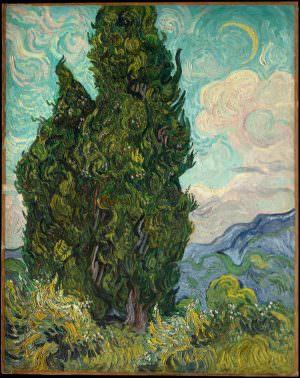 Vincent van Gogh, Zypressen, 25. Juni 1889, Öl auf Leinwand, 93,3 x 74 cm (Metropolitan Museum of Art, New York, Rogers Fund, 1949)