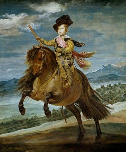 Diego Velázquez, Prinz Baltasar Carlos zu Pferd, 1635, Öl auf Leinwand, 209 x 173 cm © Madrid, Museo del Prado