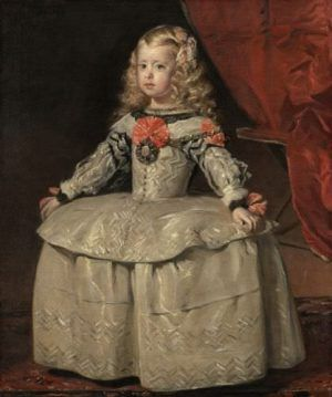 Diego Velázquez, Infantin Margarita in weißem Kleid, um 1656, Öl auf Leinwand, beschnitten: 105 cm x 88 cm © Wien, Kunsthistorisches Museum