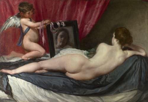 Diego Velázquez, Venus mit dem Spiegel (Rokeby Venus), 1648–1651, Öl auf Leinwand, 122,5 x 177 cm © London, The National Gallery
