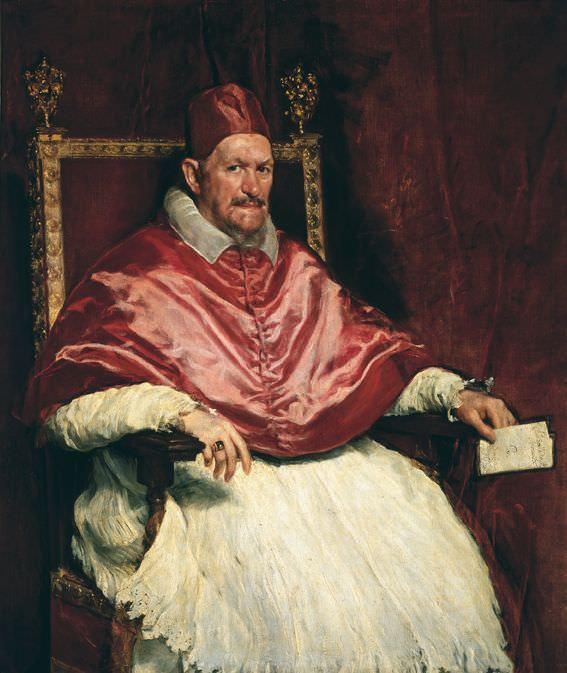 Diego Velázquez, Innocent X, um 1650, Öl auf Leinwand, 141 cm × 119 cm (Galleria Doria Pamphilij, Rom)