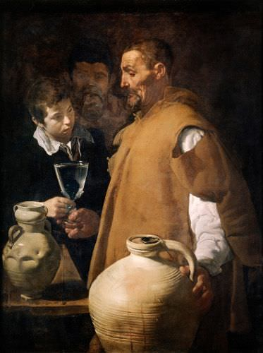 Diego Velázquez, Der Wasserverkäufer von Sevilla, ca. 1622, Öl auf Leinwand, 107,7 x 83,3 cm (inclusive ein oben angesetzter Streifen von 4 cm) © London, Apsley House, The Wellington Collection English Heritage