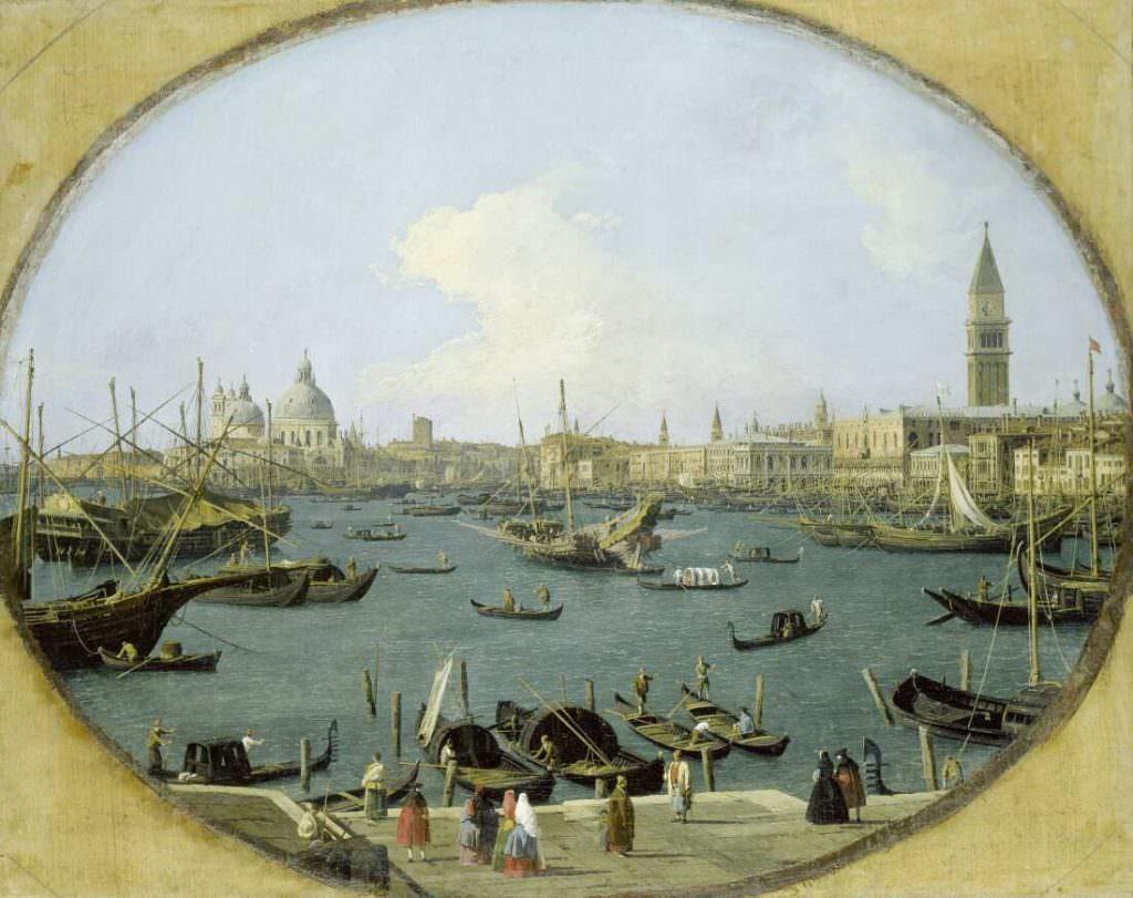 Giovanni Antonio Canal, gen. Canaletto (1697–1768), Ansicht des Markusbeckens in Venedig, 1735, Öl auf Leinwand, 78,6 x 98,8 cm (Städel Museum, Frankfurt am Main Inv.-Nr. 851)