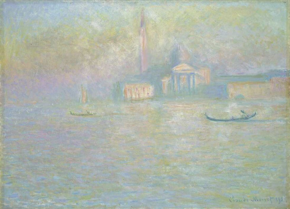 Claude Monet (1840–1926), San Giorgio Maggiore (Saint-Georges majeur), 1908, Öl auf Leinwand, 59,2 x 81,2 cm (The Davies Sisters Collection, Amgueddfa Cymru – National Museum of Wales, Cardiff Inv.-Nr. NMW A 2488)