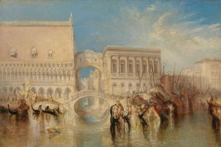 William Turner (1775–1851), Venedig, die Seufzerbrücke (Venice, the Bridge of Sighs), 1840 ausgestellt, Öl auf Leinwand, 68,6 x 91,4 cm (Tate, London: Accepted by the nation as part of the Turner Bequest 1856 Inv.-Nr. N00527)
