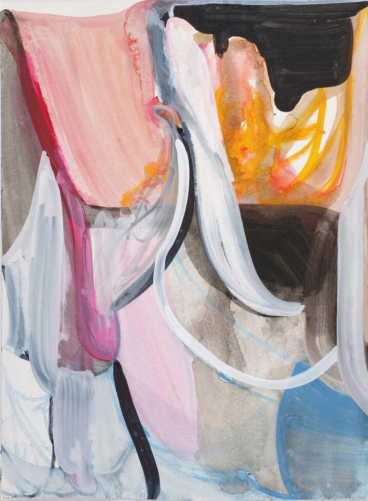 """Liliane Tomasko, """"mn,rt"""", 2015, Aquarell auf Papier, 61 x 45,7 cm © Courtesy of bechter kastowsky galerie, Vienna, Austria"""