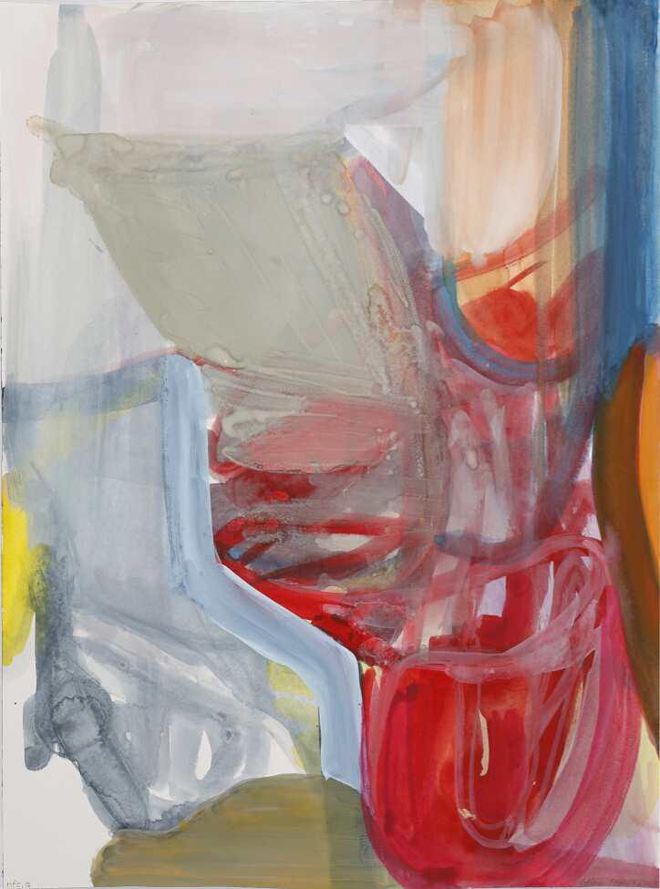 Liliane Tomasko, nfs,Q, 2015, Aquarell auf Papier, 61 x 45,7 cm © Courtesy bechter kastowsky galerie, Wien