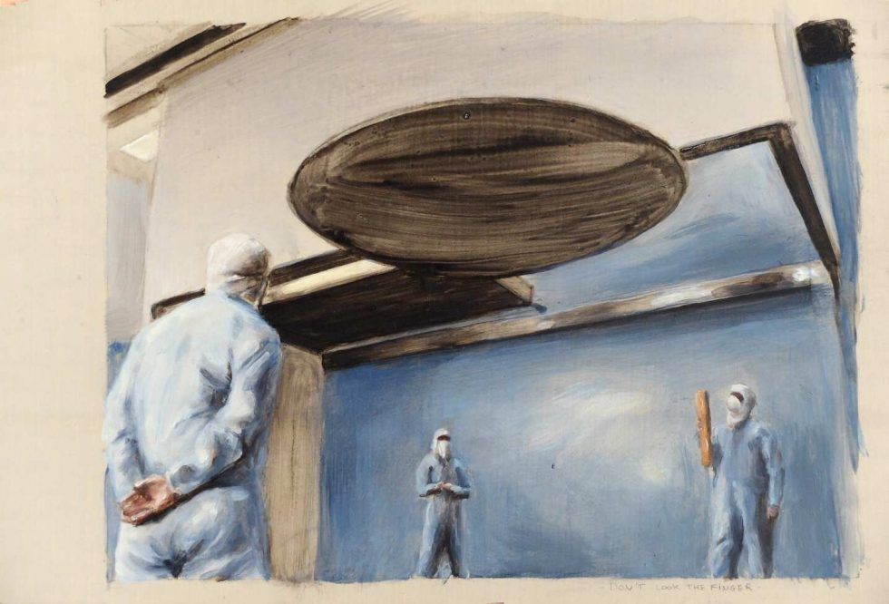 Thomas Thyrion, ohne Titel, 2016, Öl auf Holz, 15,8 x 23,9 cm © Courtesy bechter kastowsky, Wien