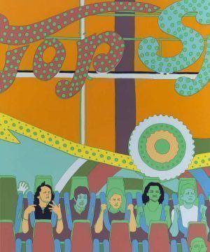 Lisa Ruyter, The Big Clock, 2011, Acrylic on canvas, 180 x 150 cm © Courtesy of Galeria Senda, Barcelona, Spain