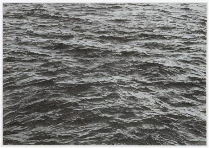 Vija Celmins, Untitled (Ocean), 1970 Zweifarbige Lithografie Motiv und Blatt: 51 x 74 cm Gedruckt von Tracy White Verlegt von Tamarind Lithography Workshop, Inc., Los Angeles.