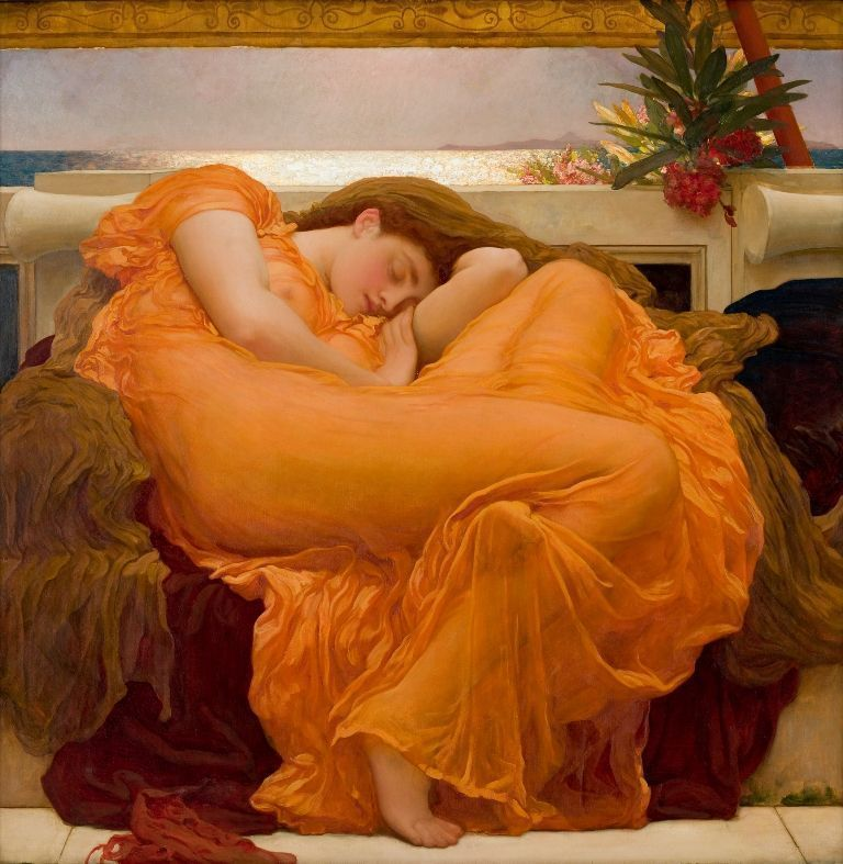 Frederic Leighton, Flaming June, 1895, Öl auf Leinwand, 119,1 x 119,1 cm (Collection Museo de Arte de Ponce. The Luis A. Ferré Foundation, Inc., Ponce, Puerto Rico), Foto: John Betancourt.
