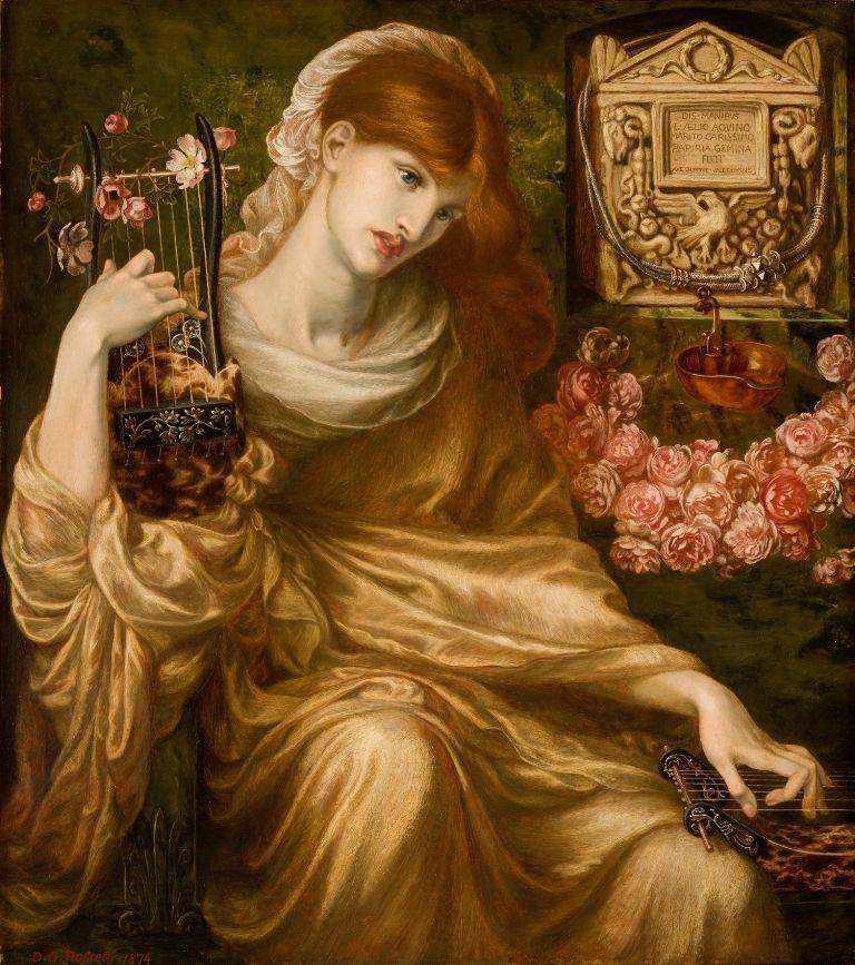Dante Gabriel Rossetti, Roman Widow (Dîs Manibus), 1874, Öl auf Leinwand, 104,8 x 93,3 cm (Collection Museo de Arte de Ponce. The Luis A. Ferré Foundation, Inc., Ponce, Puerto Rico), Foto: John Betancourt.