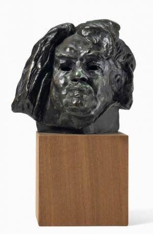 Auguste Rodin, Balzac, endgültige Studie für den Kopf, 1897, Bronze, 18 x 18 x 16 cm (Hahnloser/Jaeggli Stiftung, Winterthur, Schenkung C. Rudolf Jäggli, 2011)