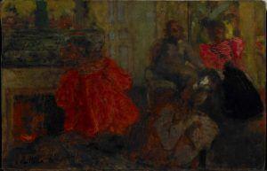 Édouard Vuillard, Die Familie Alexandre Natanson, Rue Saint-Florentin, 1897/98, Öl auf Karton, 26 x 40 cm (Hahnloser/Jaeggli Stiftung, Winterthur, Schenkung Elisabeth Lasserre-Jäggli, 1998)