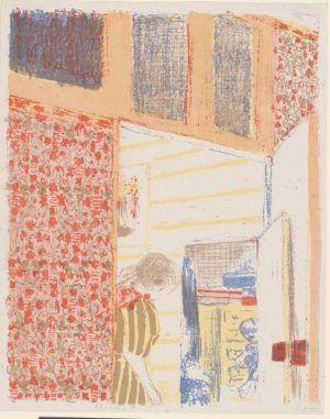 Édouard Vuillard, Landschaften und Interieurs: Interieur mit rosafarbener Tapete III, 1899, Farblithografie, 34 x 27 cm (Hahnloser/Jaeggli Stiftung, Winterthur, Schenkung Geschwister Jäggli, 2011)