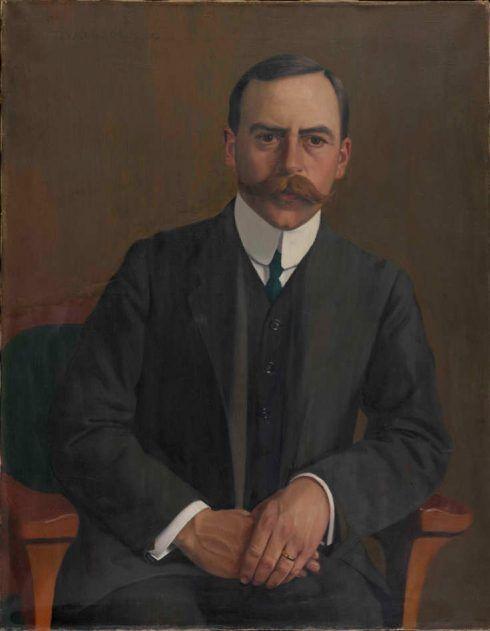 Félix Vallotton, Der Arzt Arthur Hahnloser, 1909, Öl auf Leinwand, 80 x 62,3 cm (Hahnloser/Jaeggli Stiftung, Winterthur, Schenkung 1982)