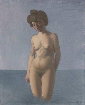 Félix Vallotton, Badende, von vorne gesehen, 1907, Öl auf Leinwand, 81 x 65,5 cm (Privatsammlung, Villa Flora, Winterthur)