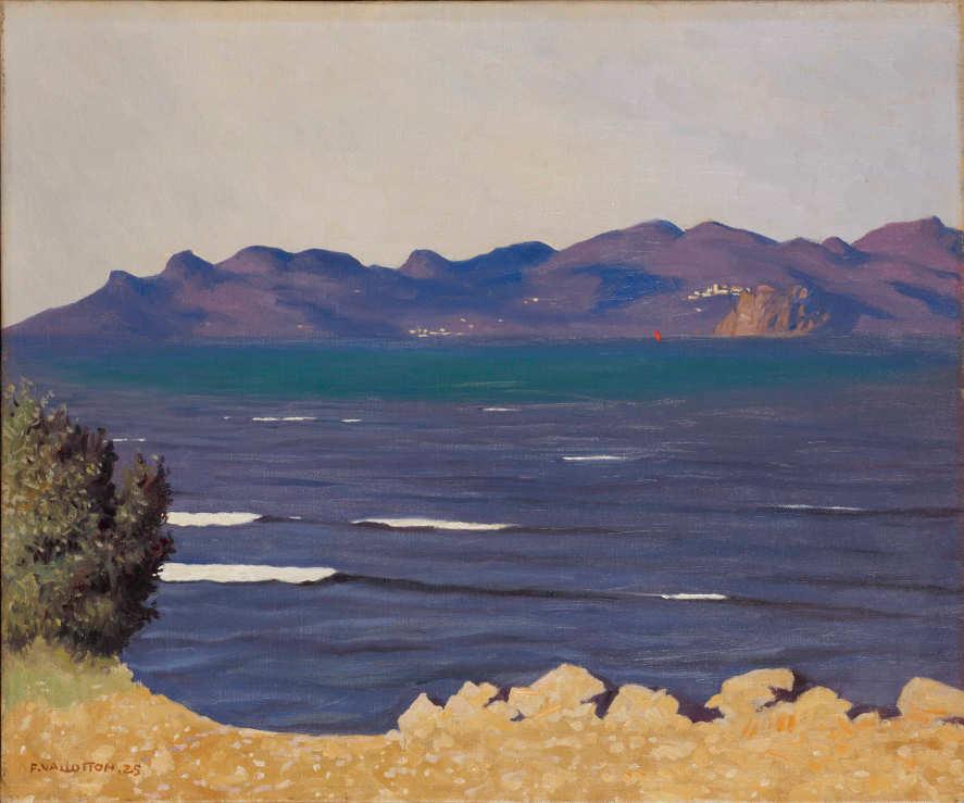 Félix Vallotton, Das Estérel-Gebirge und die Bucht von Cannes, 1925, Öl auf Leinwand, 54 x 65 cm (Privatsammlung, Villa Flora, Winterthur)