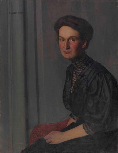 Félix Vallotton, Hedy Hahnloser, 1908, Öl auf Leinwand, 81 x 62,5 cm (Hahnloser/Jaeggli Stiftung, Winterthur, Schenkung 1981)