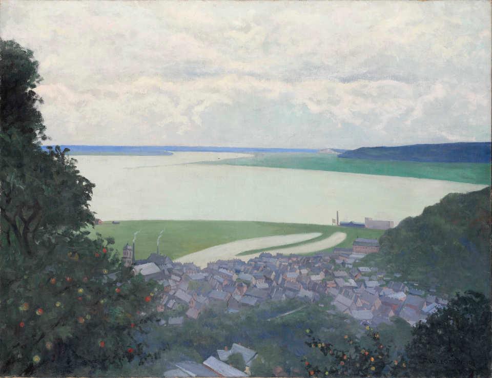 Félix Vallotton, Sicht auf Honfleur, morgens, 1910, Öl auf Leinwand, 89 x 117 cm (Hahnloser/Jaeggli Stiftung, Winterthur)