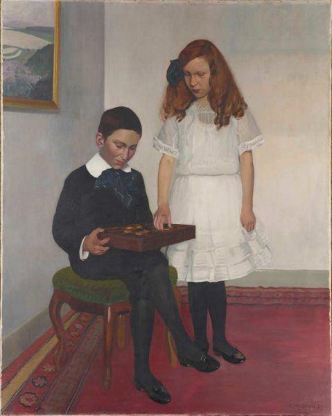 Félix Vallotton, Die Kinder Hahnloser, 1912, Öl auf Leinwand, 145 x 116 cm (Hahnloser/Jaeggli Stiftung, Winterthur, Schenkung Elisabeth Lasserre-Jäggli, 1983)