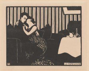 Félix Vallotton, Intimes: Die Lüge, 1897, Holzschnitt, 18 x 22,2 cm (Privatsammlung, Villa FLora, Winterthur)