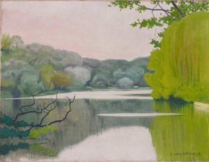 Félix Vallotton, Der See Saint-James, morgens, 1918, Öl auf Leinwand, 50 x 65 cm (Hahnloser/Jaeggli Stiftung, Winterthur, Schenkung Lucia Bühler, 1997)