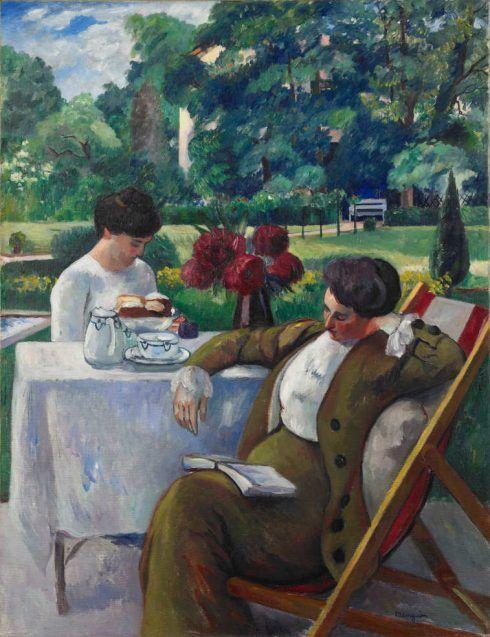 Henri Manguin, Die Teestunde in der Villa Flora, Winterthur, 1912, Öl auf Leinwand, 116 x 89 cm (Hahnloser/Jaeggli Stiftung, Winterthur, Schenkung 1989)