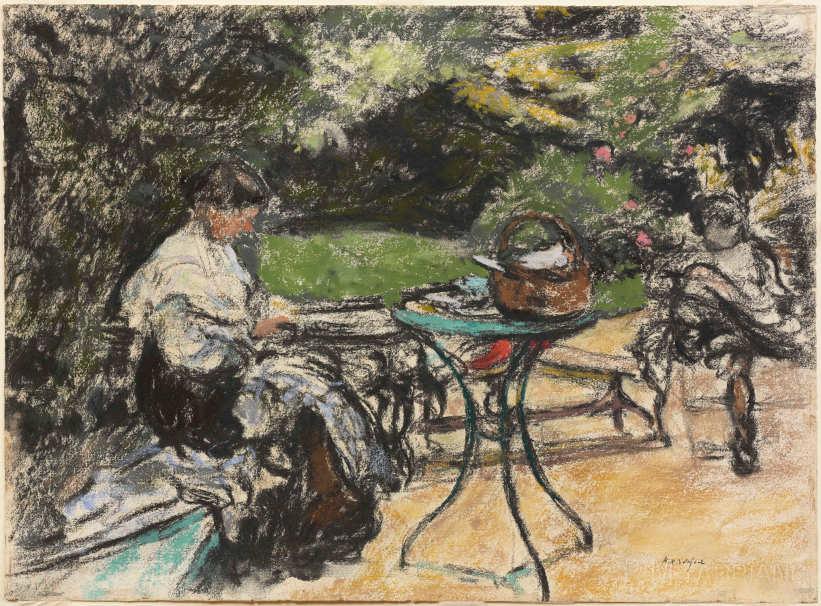 Ker-Xavier Roussel, Mutter und Tochter im Garten, um1905, Pastell auf Papier, 42 x 57 cm (Hahnloser/Jaeggli Stiftung, Winterthur, Schenkung Geschwister Jäggli, 1981)
