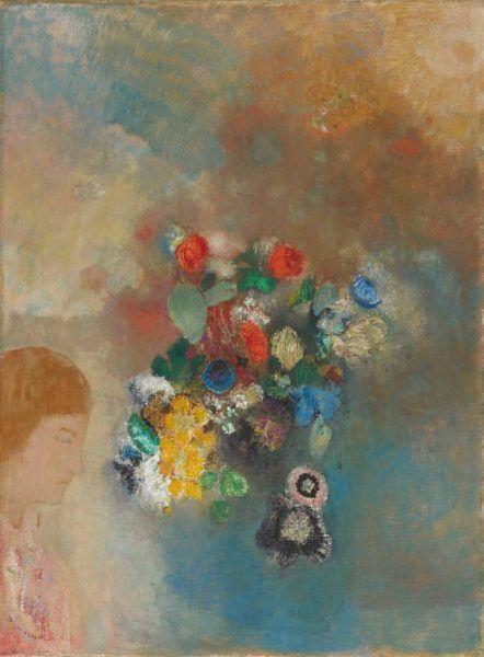Odilon Redon, Le Rêve / Der Traum, um 1908, Öl auf Leinwand, 29 x 23 cm (Hahnloser/Jaeggli Stiftung, Winterthur © Hahnloser/Jaeggli Stiftung, Winterthur)