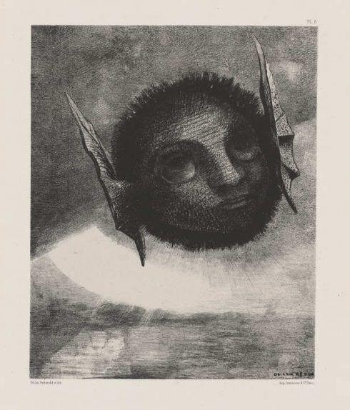 Odilon Redon, Dans le rêve / Im Traum, Nr. 6, Gnôme / Gnom, 1879, Lithografie, 27,2 x 22 cm (Hahnloser/Jaeggli Stiftung, Winterthur © Hahnloser/Jaeggli Stiftung, Winterthur)
