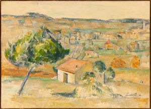 Paul Cézanne, Provenzalische Landschaft, 1883–1885, Öl auf Leinwand, 58,5 x 81 cm (Hahnloser/Jaeggli Stiftung, Winterthur, Schenkung C. Rudolf Jäggli, 2011)