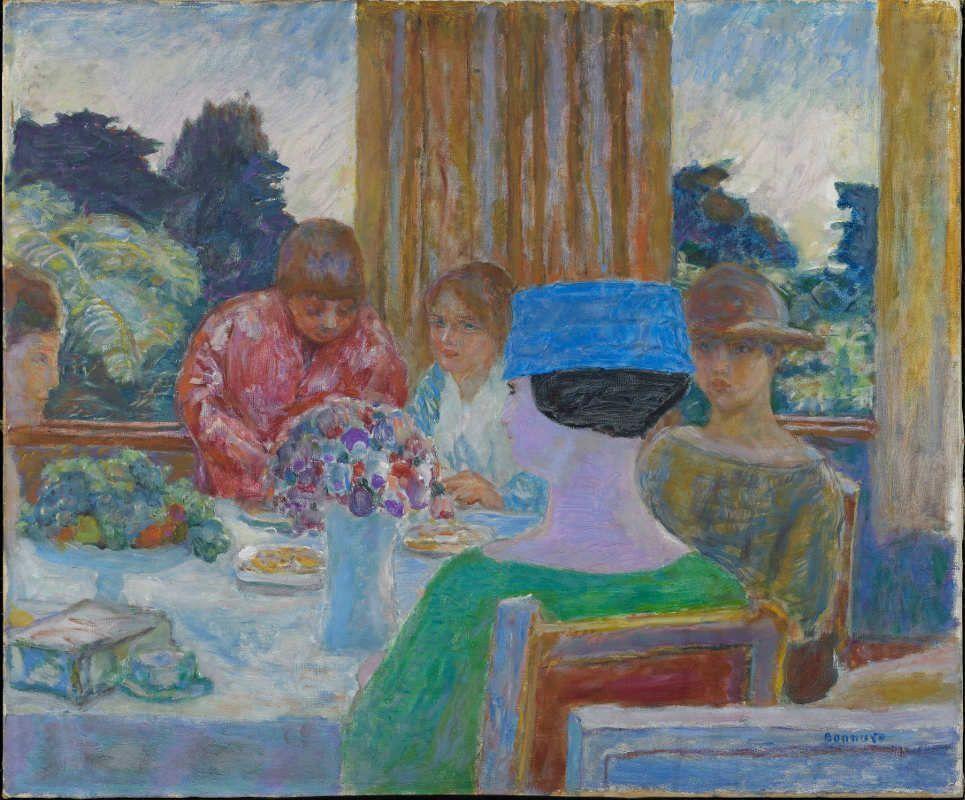 Pierre Bonnard, Die Teestunde, 1917, Öl auf Leinwand, 66 x 79,5 cm (Hahnloser/Jaeggli Stiftung, Winterthur, Schenkung C. Rudolf Jäggli, 2011)