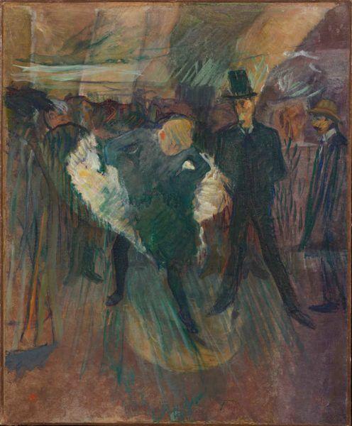 Henri de Toulouse-Lautrec, La Goulue et Valentin le Désossé, 1897, Öl auf Karton, 60 x 50 cm (Hahnloser/Jaeggli Stiftung, Winterthur, Schenkung Geschwister Jäggli, 1981)
